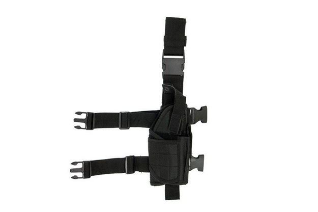 Picture of GFC DROP LEG HOLSTER BLACK CORDURA